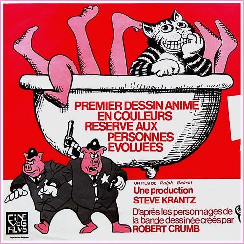 Fritz The Cat Poster Frans Pop Art
